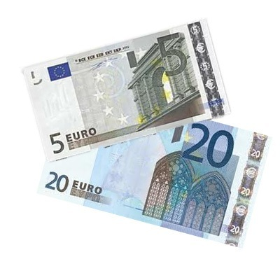 25$ in euro